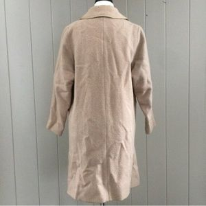 Vintage Jackets & Coats - Vintage 1960s Car Coat Tan Single Breasted Buttons